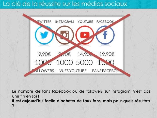 La clé de la réussite sur les médias sociaux  Le nombre de fans facebook ou de followers sur Instagram n'est pas une fin e...