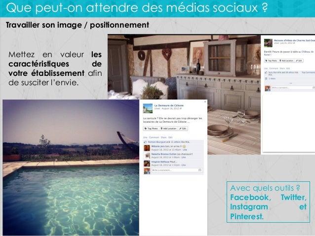 Que peut-on attendre des médias sociaux ? Travailler son image / positionnement  Mettez en valeur les caractéristiques de ...