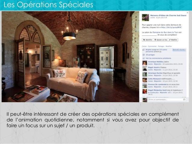 Les Opérations Spéciales  Il peut-être intéressant de créer des opérations spéciales en complément de l'animation quotidie...