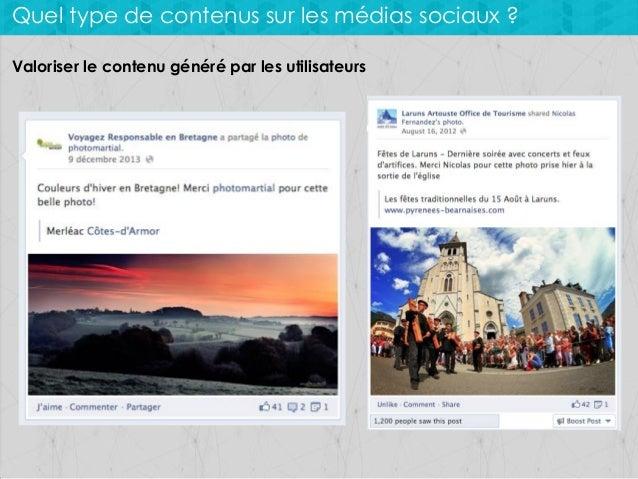 Quel type de contenus sur les médias sociaux ? Valoriser le contenu généré par les utilisateurs