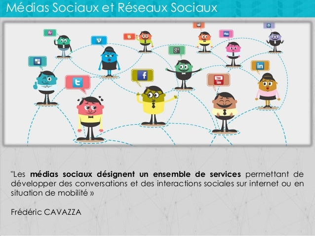 """Médias Sociaux et Réseaux Sociaux  """"Les médias sociaux désignent un ensemble de services permettant de développer des conv..."""