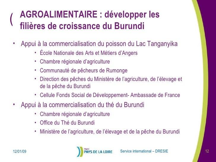 Coop ration pays de la loire burundi pour une - Chambre regionale d agriculture pays de la loire ...