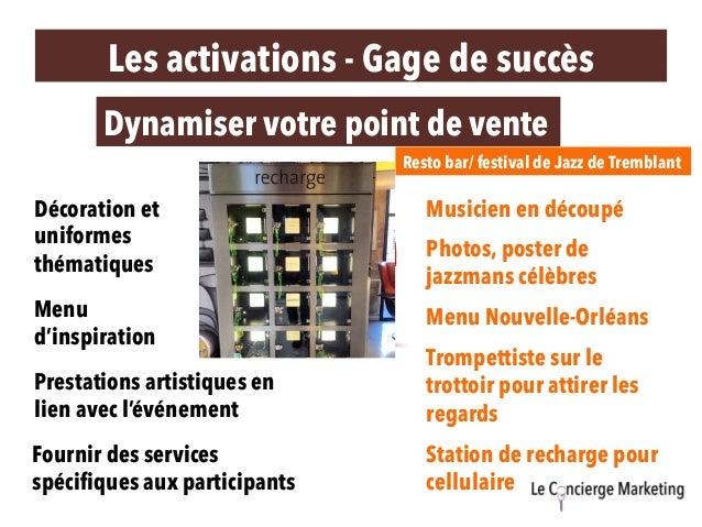 Les activations - Gage de succès Dynamiser votre point de vente Décoration et uniformes thématiques Prestations artistique...