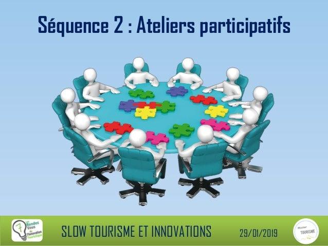 Séquence 2 : Ateliers participatifs SLOW TOURISME ET INNOVATIONS 29/01/2019