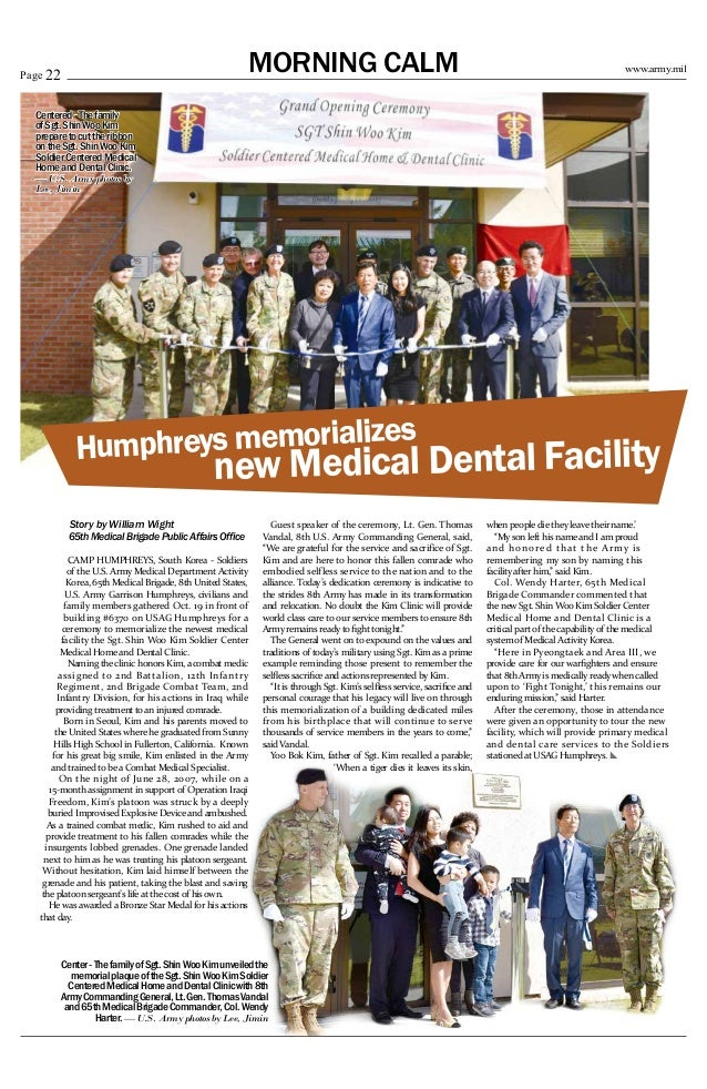 October 27 2017 Page 21Advertisement 22 ArmymilMORNING CALMPage Story By William Wight 65th Medical Brigade