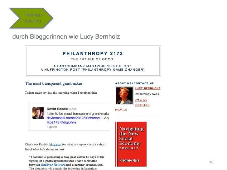 "Themen-   setzung""durch Bloggerinnen wie Lucy Bernholz""                                        10"