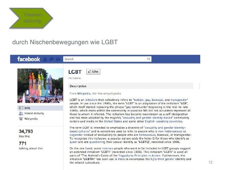 """Themen-   setzung""""durch Nischenbewegungen wie LGBT""""                                    12"""