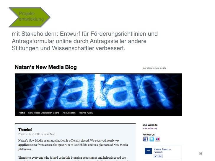 """Projekt-    entwicklung""""mit Stakeholdern: Entwurf für Förderungsrichtlinien undAntragsformular online durch Antragssteller..."""