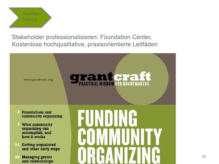 """Nachbe-    reitung""""Stakeholder professionalisieren: Foundation Center, Kostenlose hochqualitative, praxisorientierte Leit..."""