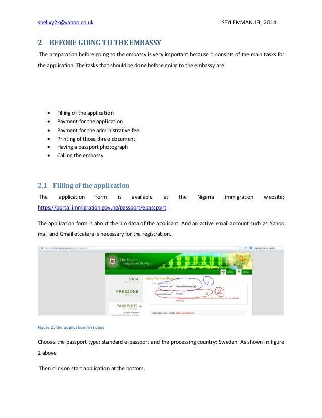Nigeria Passport Re Issue Processes At Nigeria Embassy Stockholm Sw