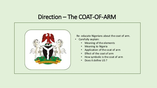 how to draw nigeria coat of arm