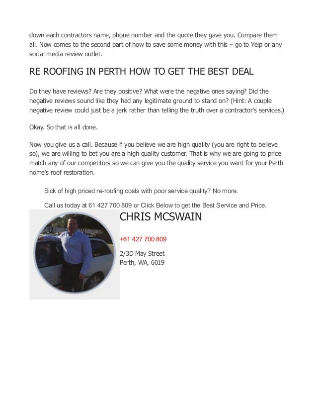 Re Roofing In Perth What You Need To Know