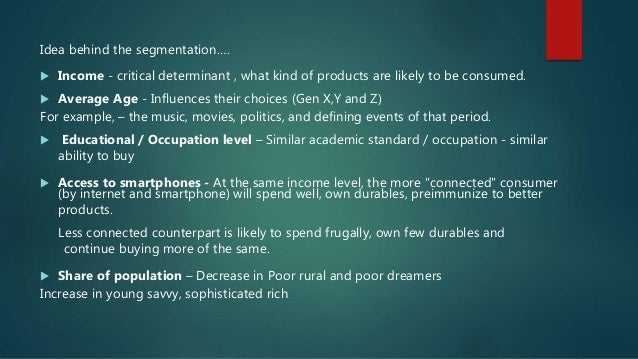 Re-thinking market segmentation - Marketing 101 Slide 3