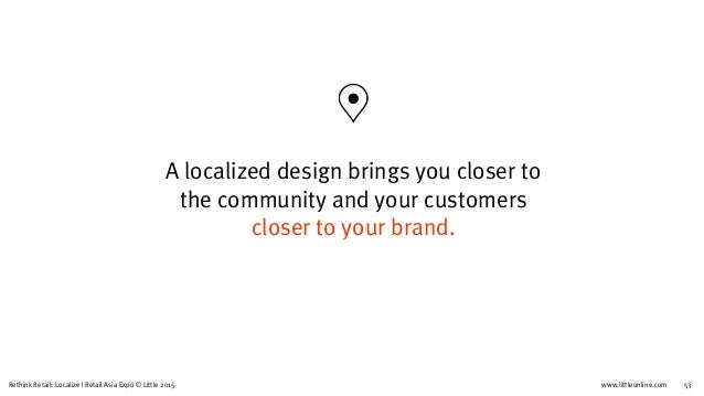 Re-Think Retail : Localize