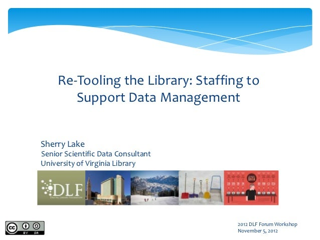Re-Tooling the Library: Staffing to        Support Data ManagementSherry LakeSenior Scientific Data ConsultantUniversity o...