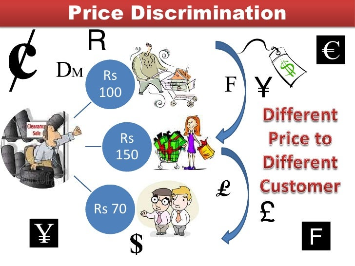 the use of price discrimination in People who are very price sensitive will use them  third degree price  discrimination is charging different prices based on buyer characteristics, such as .