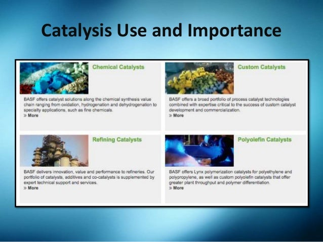 the role and importance of catalysts in chemical reactions and the industry Technological importance of catalysts economic and technological importance of chemical catalyst reaction chemical catalysts are used in the manufacture of.