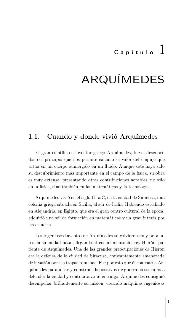 Brevísima historia de Arquímedes