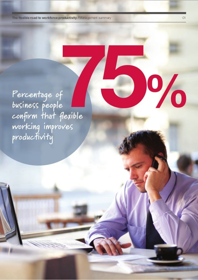 The flexible road to workforce productivity / Management summary  01  75%  Percentage of business people confirm that flex...