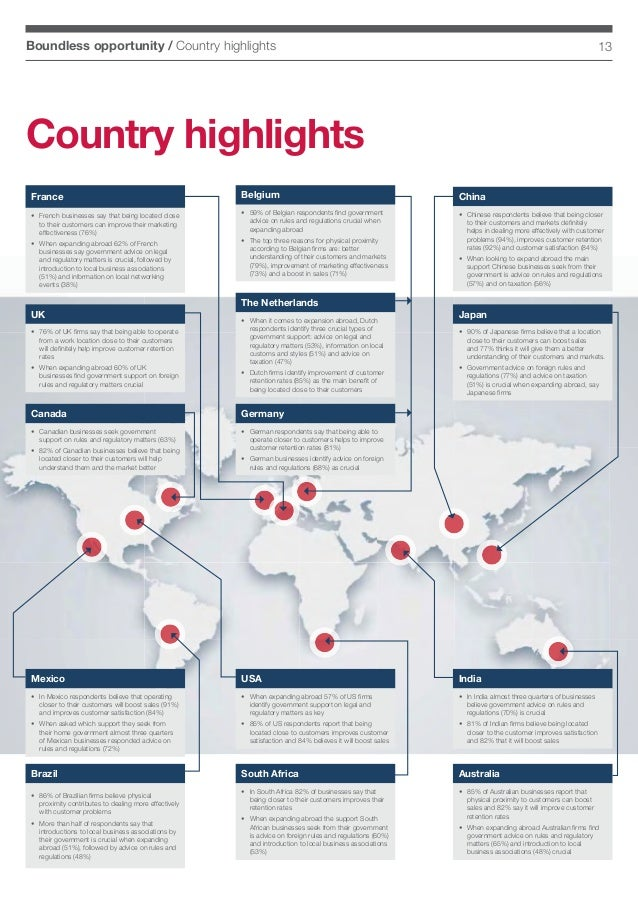 13Boundless opportunity / Country highlights Country highlights France • French businesses say that being located close t...