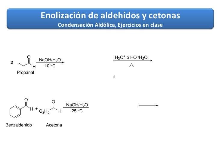 Reaccion de adicion grupo carbonilo - Problemas de condensacion ...