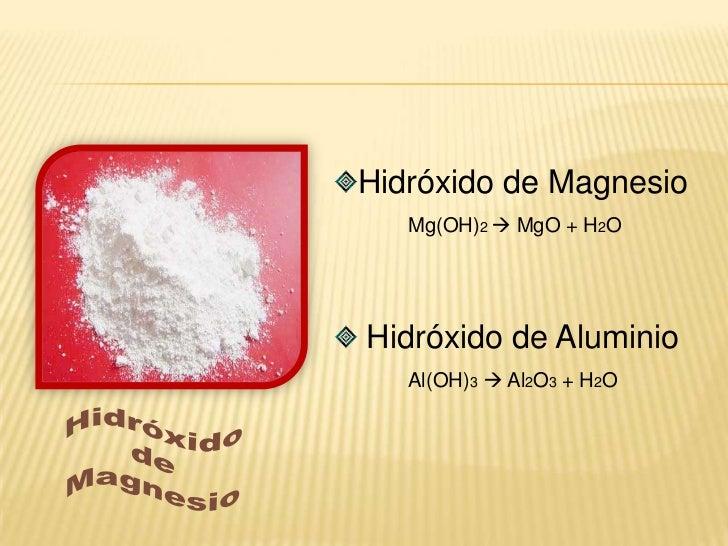Descomposición de 1 Compuesto en 2 Compuestos<br />Descomposición de hidróxidos:<br /><ul><li>Hidróxido  óxido metálico +...