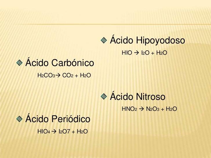 Observar con que número de oxidación está trabajando el átomo central del oxácido.