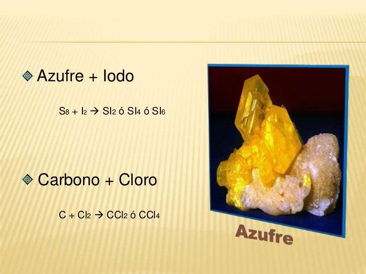 Elemento - electronegativo  número de oxidación +</li></ul> Oxigeno + Hidrógeno<br />O2 + H2 H2O<br /> Boro + Oxigeno<br...