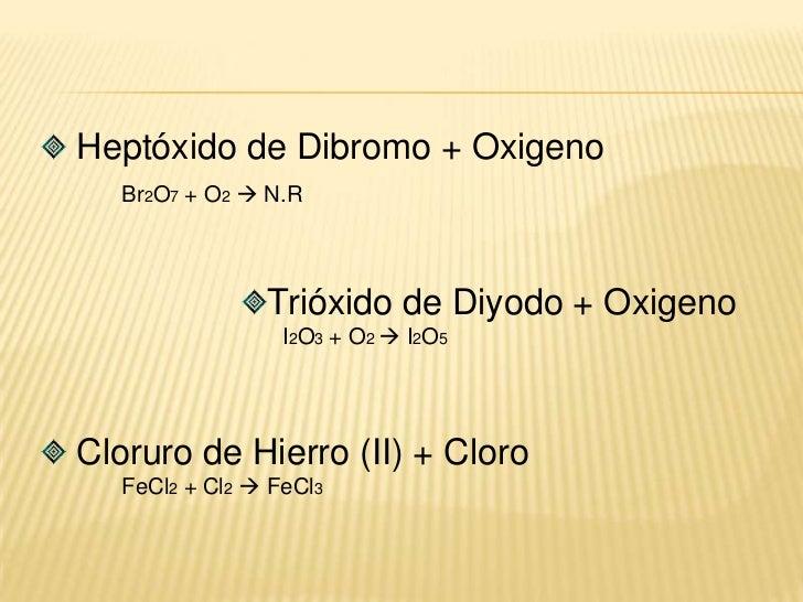 Elemento + electronegativo  compuesto con estado de oxidación positivo más bajo.