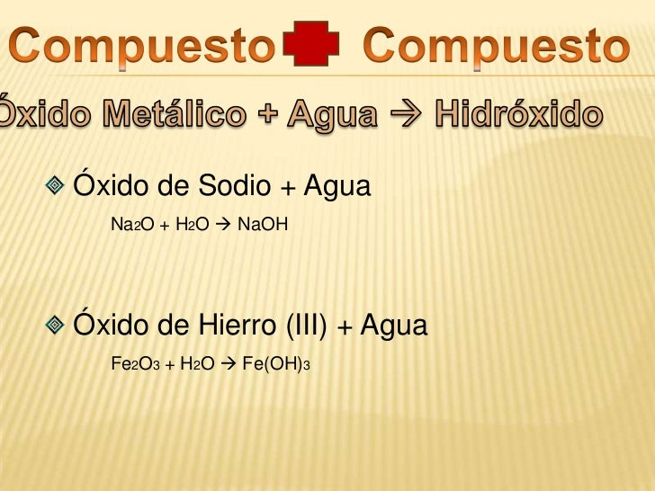 Con el mismo elemento  compuestos con estados de oxidación positivos superiores.</li></li></ul><li> Tricloruro de Arséni...
