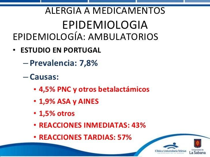 Reacciones alergicas a los medicamentos