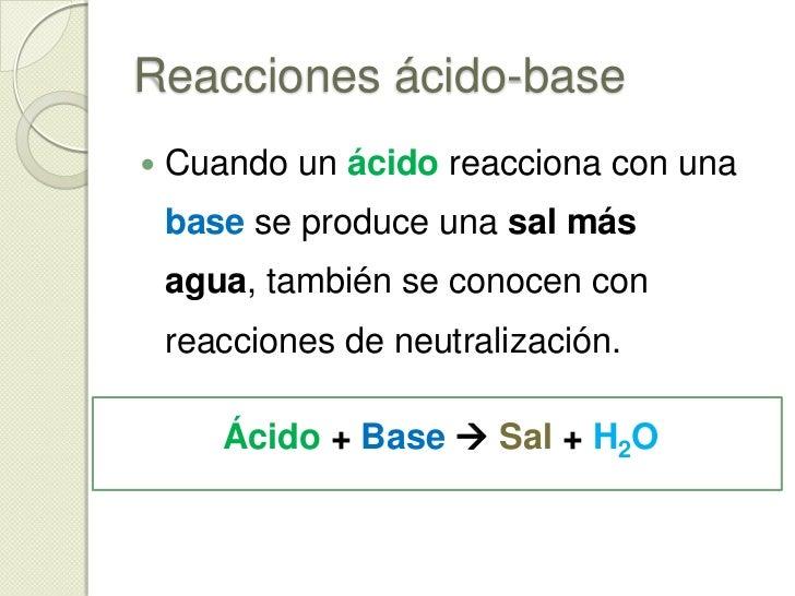 Reacciones de ácido-base<br />