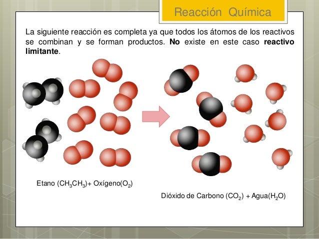 La siguiente reacción es completa ya que todos los átomos de los reactivos se combinan y se forman productos. No existe en...