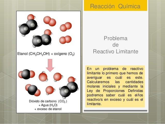 Problema de Reactivo Limitante En un problema de reactivo limitante lo primero que hemos de averiguar es cuál es este. Cal...