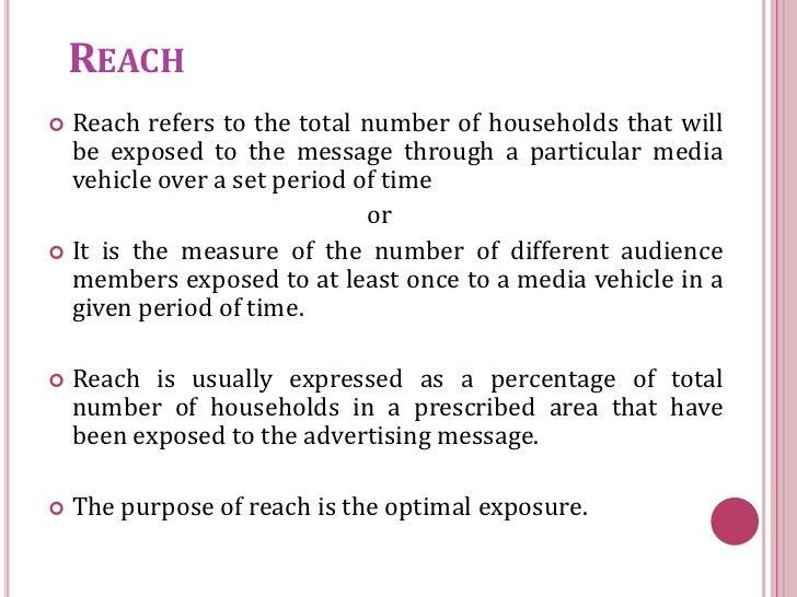reach  frequency  u0026 impact