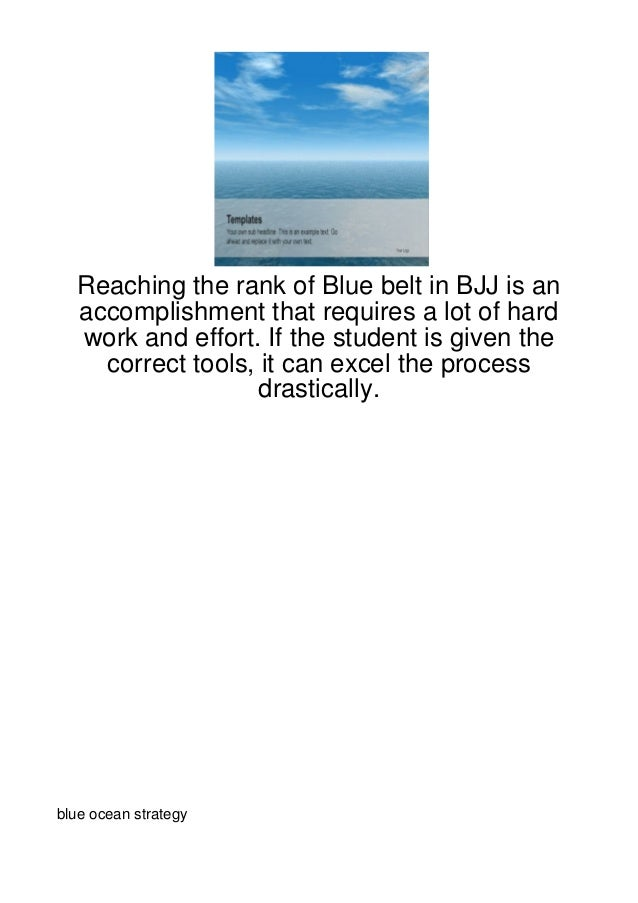 Reaching the rank of Blue belt in BJJ is an  accomplishment that requires a lot of hard  work and effort. If the student i...