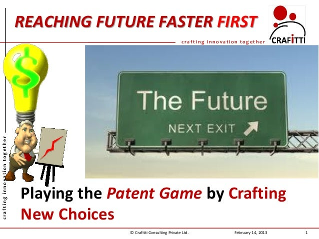 REACHING FUTURE FASTER FIRST                                                                             crafting innovati...