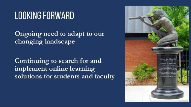 Reaching our online students where they are.