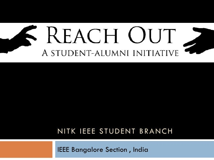 NITK IEEE STUDENT BRANCH  IEEE Bangalore Section , India