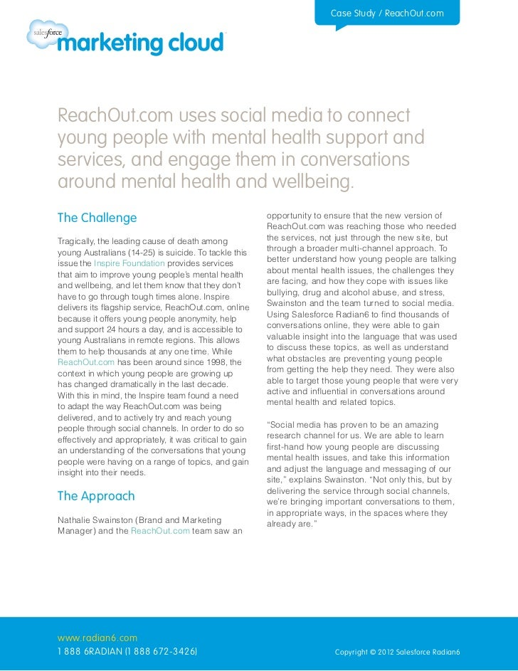 Case Study / ReachOut.comReachOut.com uses social media to connectyoung people with mental health support andservices, and...