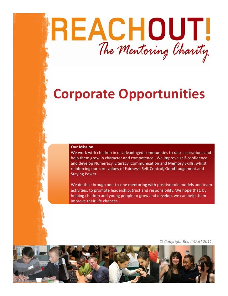 CorporateOpportunities  OurMission  Weworkwithchildrenindisadvantagedcommunitiestoraiseaspirationsand  help...