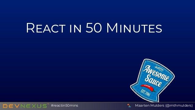R 50 M Maarten Mulders (@mthmulders)#reactin50mins