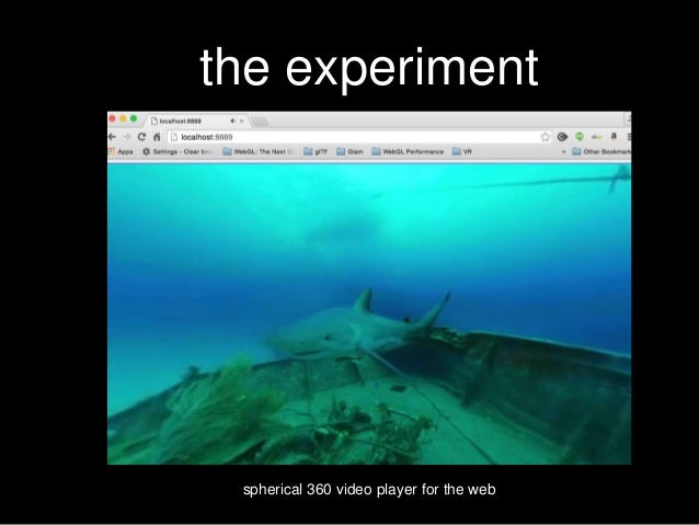 the experiment spherical 360 video player for the web