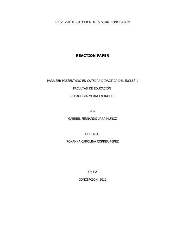 iBilib Reaction paper