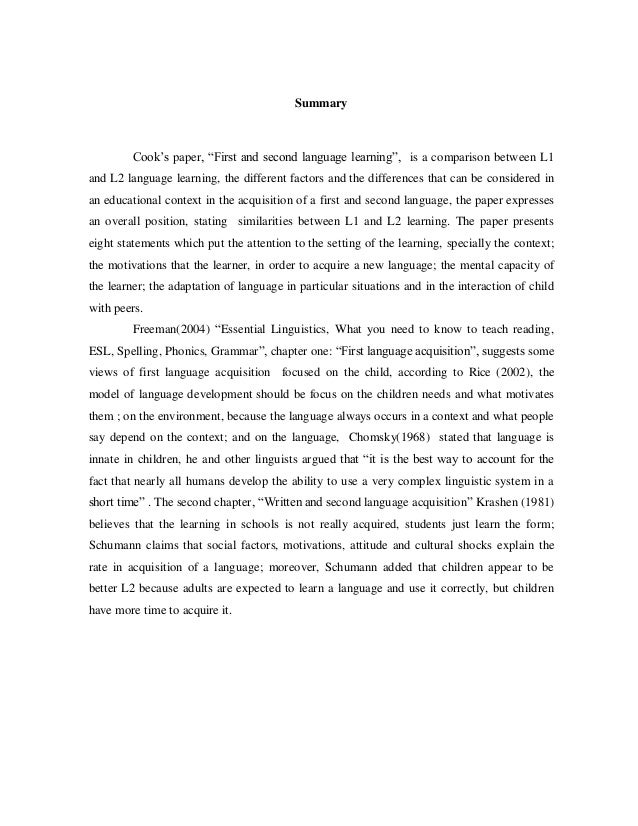 reaction paper for first language acquisition Deserted island or a child's first language  on the results of picture naming tasks and reaction time  on cambridge core between.