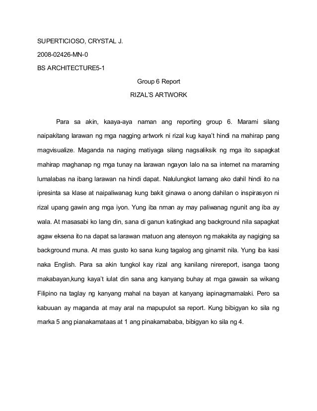 reaction paper about rizal in dapitan Reaction paper about the movie rizal in dapitan find answers now no 1 questions & answers place.
