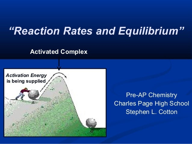 """Reaction Rates and Equilibrium"" Pre-AP Chemistry Charles Page High School Stephen L. Cotton Activation Energy is being su..."