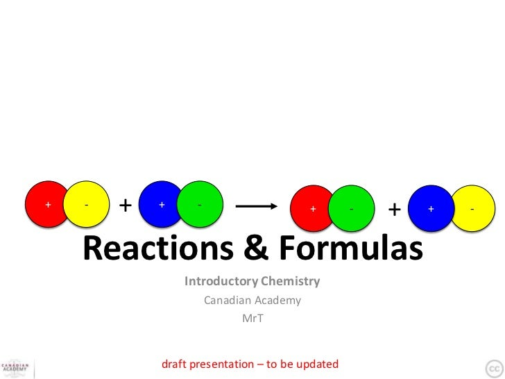 +   -   +   +     -                      +       -   +   +   -    Reactions & Formulas                Introductory Chemist...