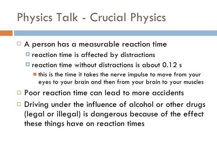 Define reaction time In Physics motor