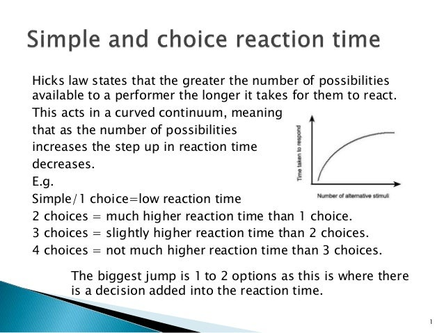 Reaction Time Theories